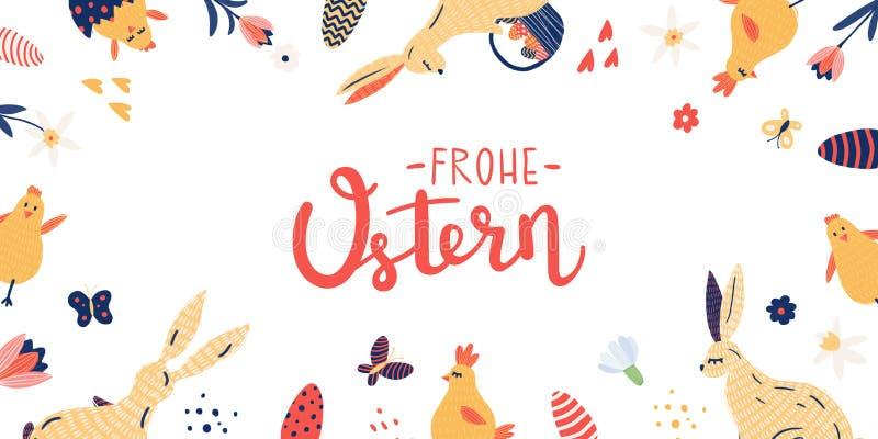 Glücklicher Ostern-Rand lizenzfreie stockbilder