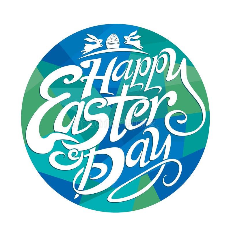 Glücklicher Ostern-Tag stock abbildung