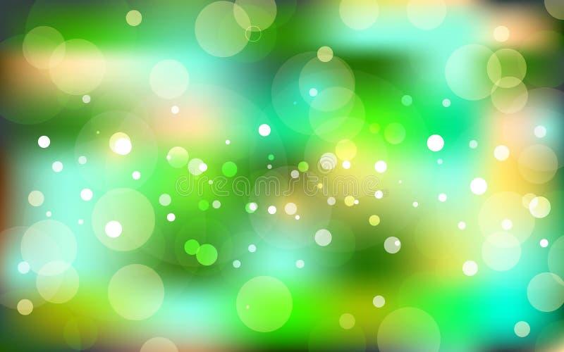 Glücklicher Ostern-Tag Sommerzusammenfassung verwischte grünen Hintergrund mit bokeh Effekt Frühling, Natur, bewölkte Illustratio lizenzfreie abbildung