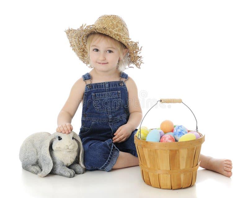 Glücklicher Ostern-Vorschüler lizenzfreies stockfoto
