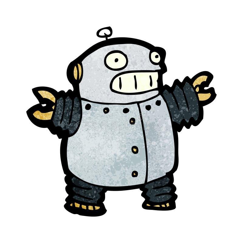 glücklicher Roboter der Karikatur lizenzfreie abbildung
