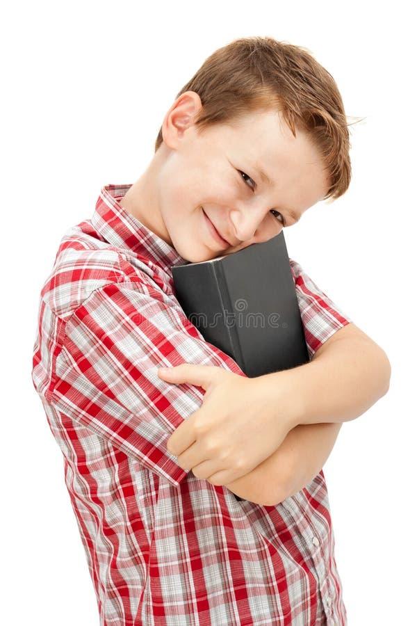 Glücklicher Schulejunge stockbilder