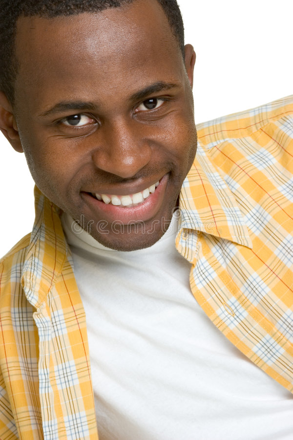 Glücklicher schwarzer Mann stockbilder