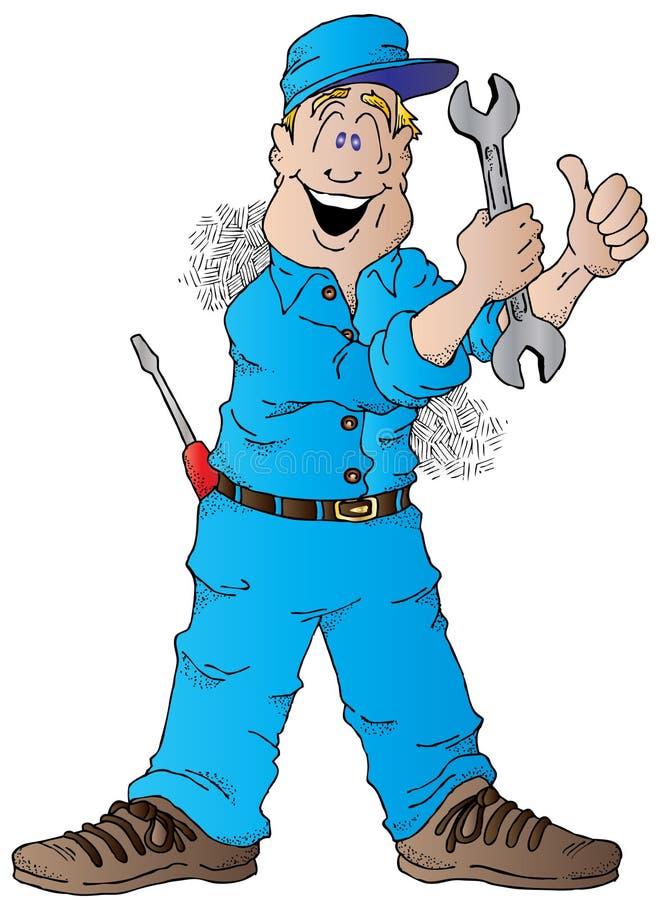Download Glücklicher Selbstmechaniker Vektor Abbildung - Illustration von reparatur, beschäftigung: 26369033