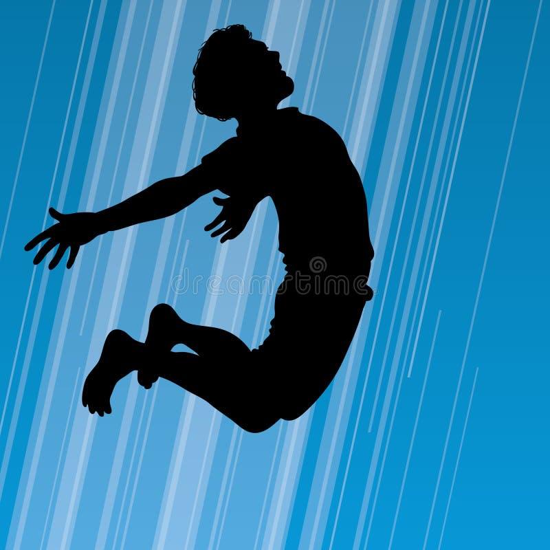 Glücklicher springender Mann lizenzfreie abbildung