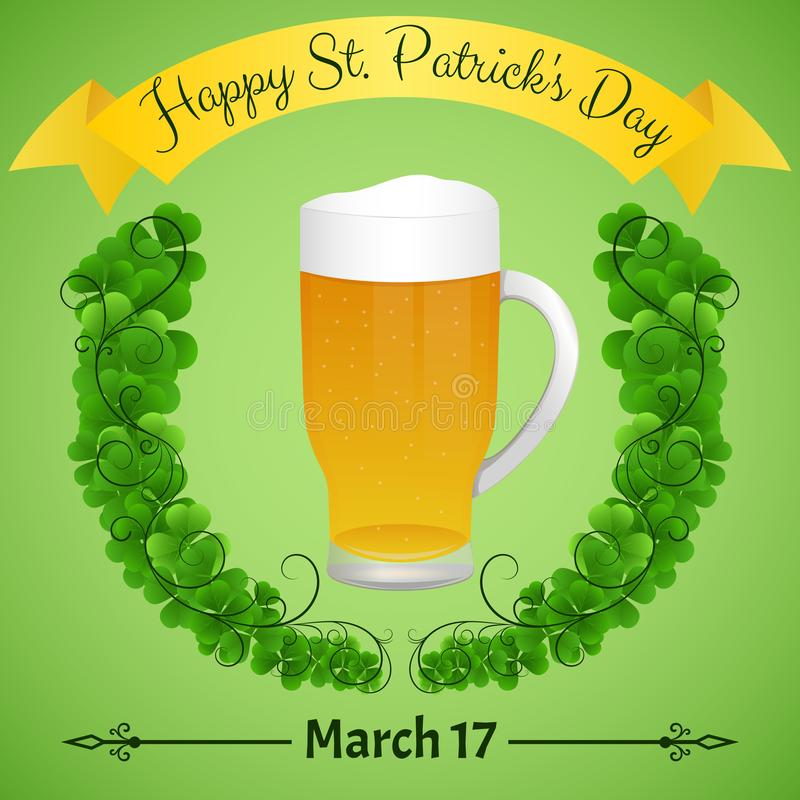 Glücklicher St- Patrick` s Tag Festlicher Paster vektor abbildung