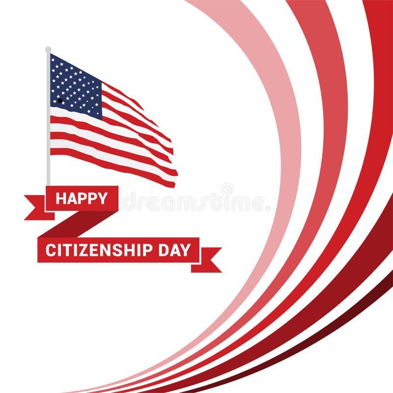 Glücklicher Staatsbürgerschaftsdesignvektor lizenzfreie abbildung