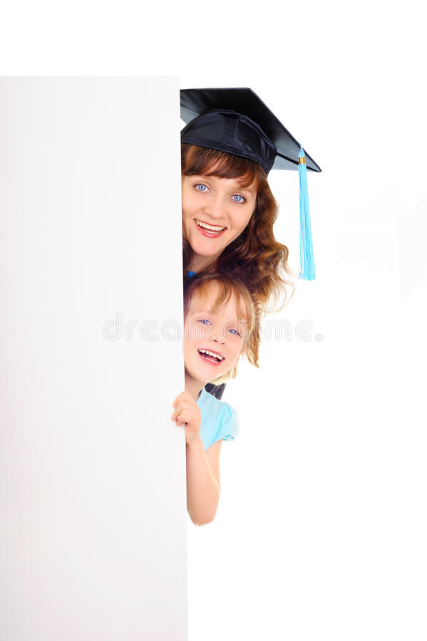 Glücklicher Student im Aufbaustudium lizenzfreie stockfotos