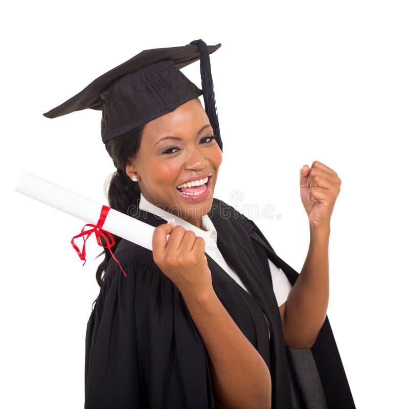 Glücklicher Student im Aufbaustudium stockbild