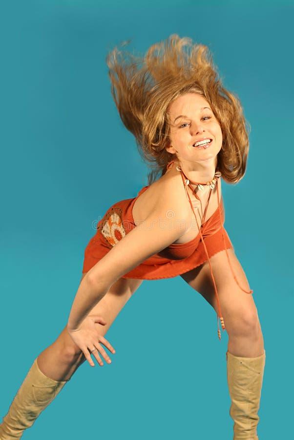 Glücklicher Tänzer stockbild