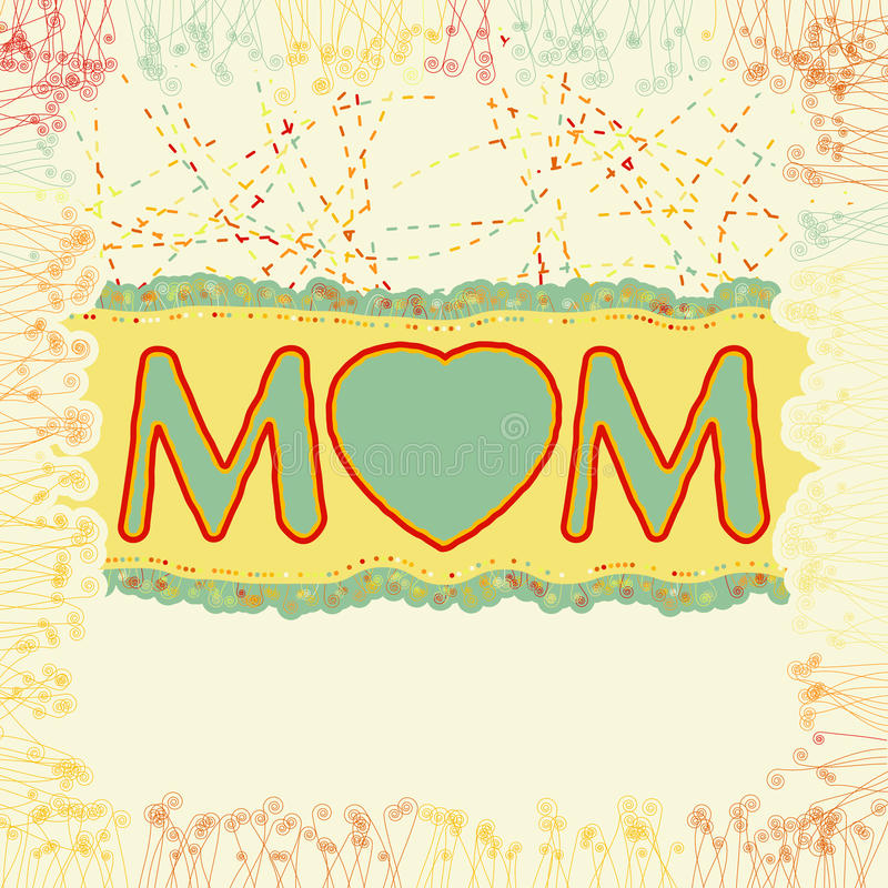 Glücklicher Tag des Mutter. ENV 8 lizenzfreie abbildung