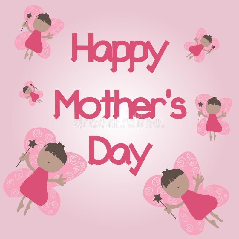 Glücklicher Tag des Mutter Selebration Karte des Mutter Tages lizenzfreies stockbild