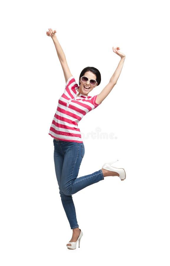 Glücklicher Tanzenjugendlicher stockfoto