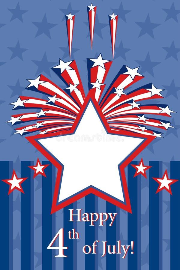 Download Glücklicher Unabhängigkeitstag Vektor Abbildung - Illustration von aufkleber, falte: 26371560