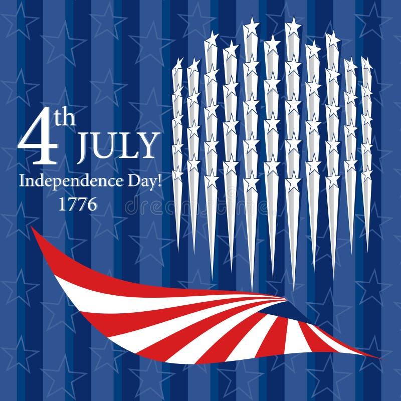 Download Glücklicher Unabhängigkeitstag Juli 4. Vektor Abbildung - Illustration von republik, zustände: 26371565