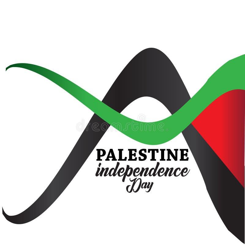 Glücklicher Unabhängigkeitstag Palästinas Hintergrund stock abbildung
