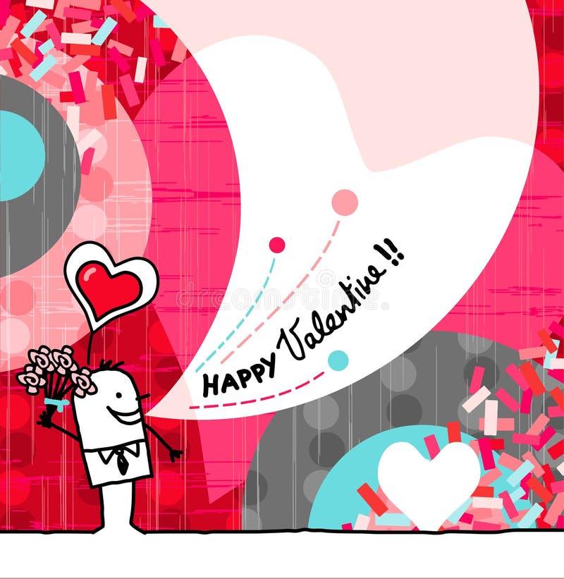 Glücklicher Valentinsgruß vektor abbildung