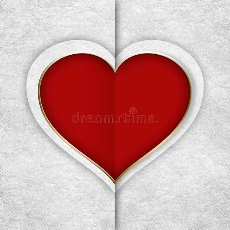 Glücklicher Valentinsgruß - Hintergrundschablone lizenzfreie abbildung