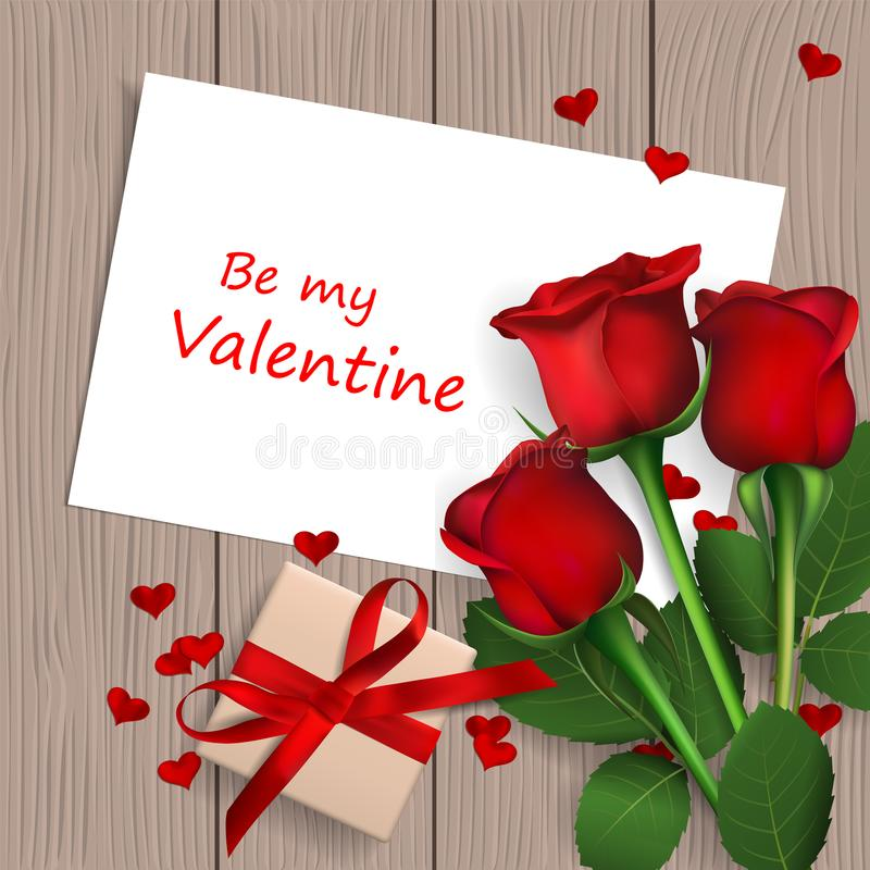 Glücklicher Valentinsgruß `s Tag lizenzfreie abbildung