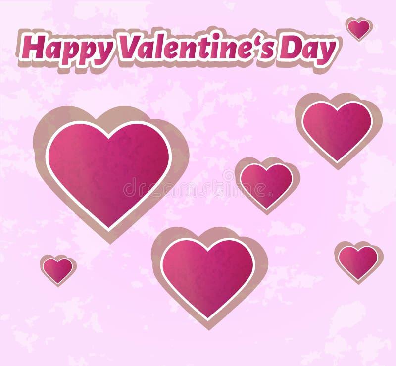 Glücklicher Valentinsgruß `s Tag stock abbildung