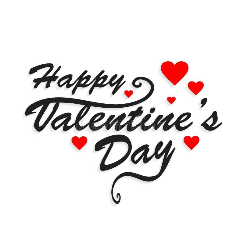 Glücklicher Valentinsgruß ` s Tageseinfaches typografisches lizenzfreie abbildung