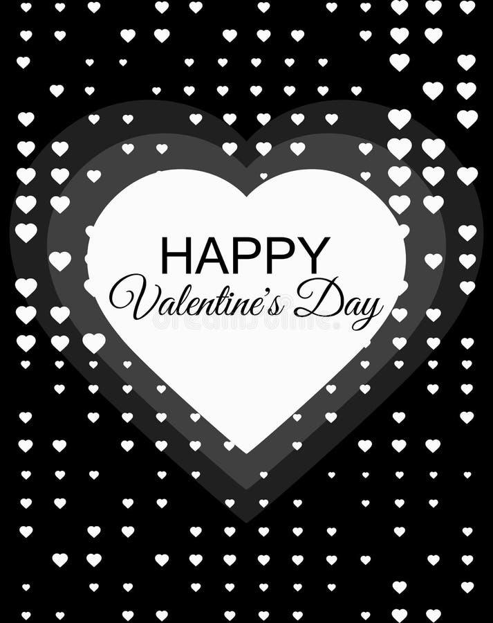 Glücklicher Valentinsgruß-Tag, am 14. Februar Halbton punktierte Hintergrund für Grußkartenhintergrund mit Herzen Grafische Ausle stock abbildung