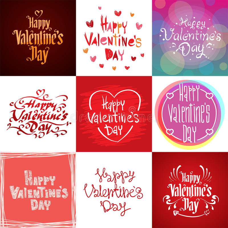 Glücklicher Valentinsgruß-Tagesgrußkartenvektor stock abbildung