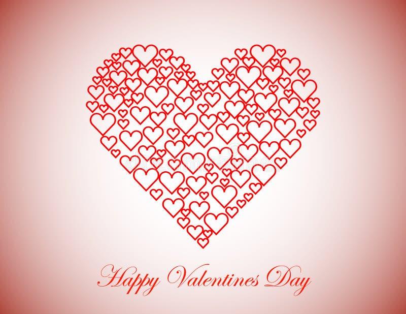 Glücklicher Valentinsgruß-Tageshintergrund lizenzfreie abbildung