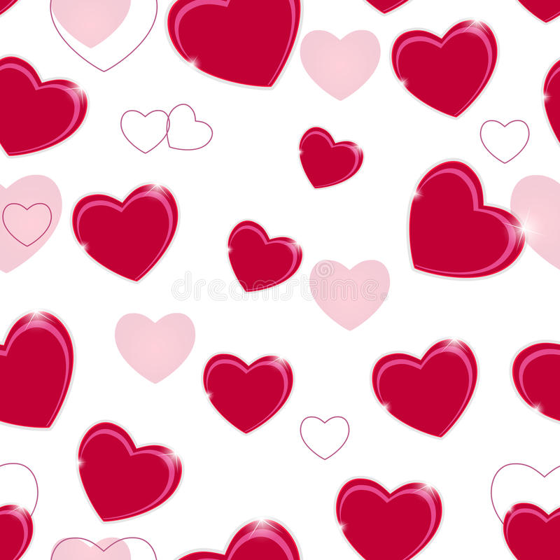 Glücklicher Valentinsgruß-Tagesnahtloser Musterhintergrund lizenzfreie abbildung