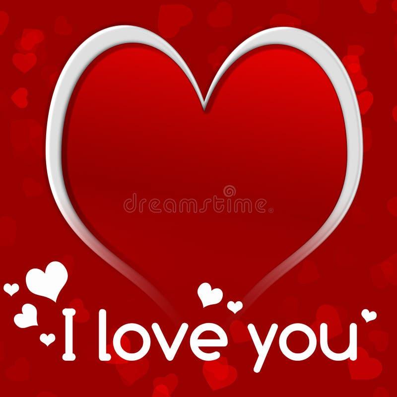 Glücklicher Valentinsgrußtag Ich liebe dich Rotes Herz stock abbildung
