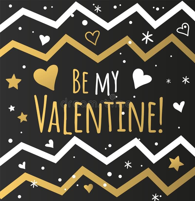 Glücklicher Valentinsgrußtag und Säubernkartendesign stock abbildung