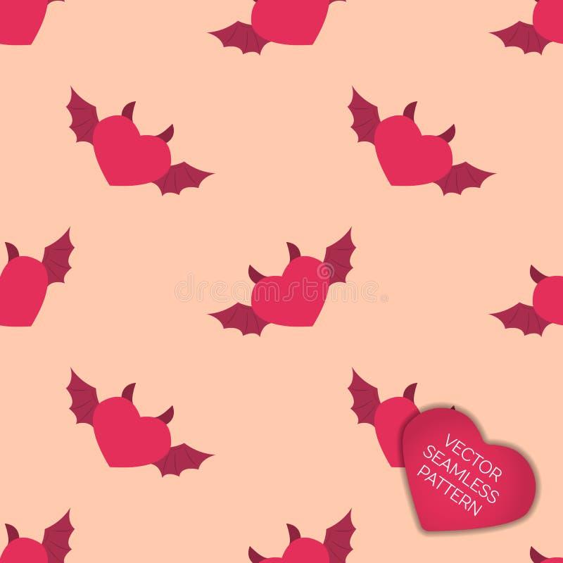 Glücklicher Valentinsgrußtagessammlungshintergrund lizenzfreie abbildung