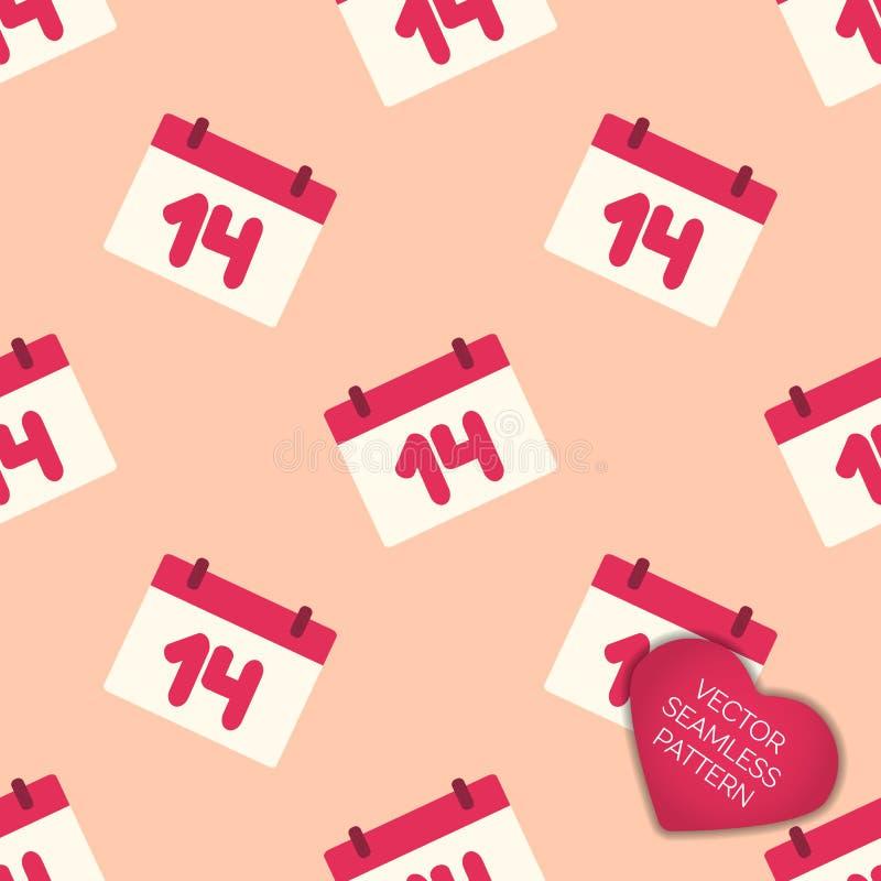 Glücklicher Valentinsgrußtagessammlungshintergrund stock abbildung