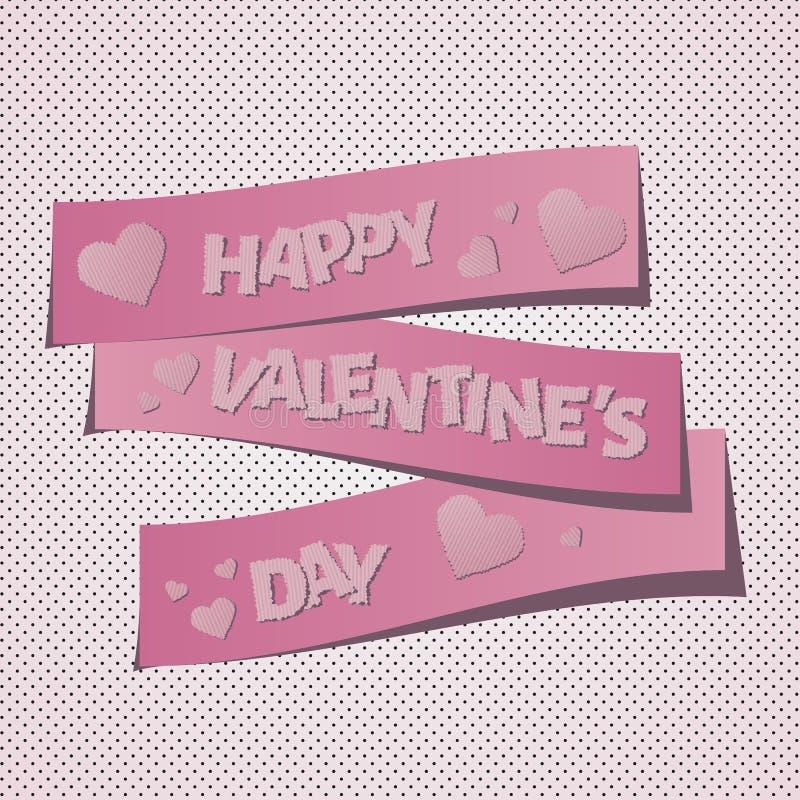 Glücklicher Valentinstag lizenzfreie abbildung