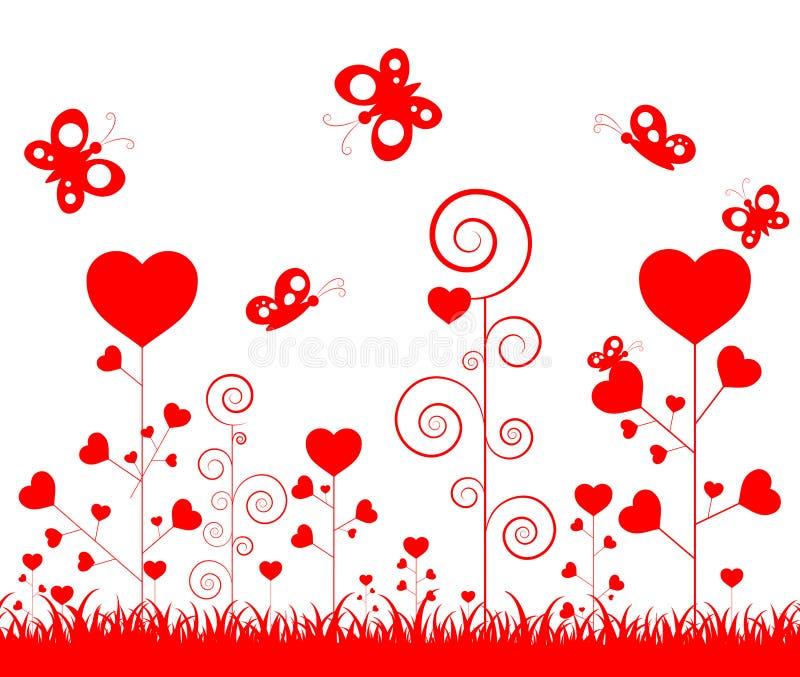 Glücklicher Valentinstag der Illustration mit Verzierung für dekoratives Festival der Liebe stock abbildung