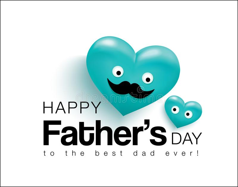 Glücklicher Vater ` s Tag vektor abbildung