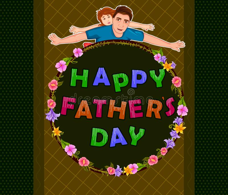 Glücklicher Vater ` s Tagesgruß vektor abbildung