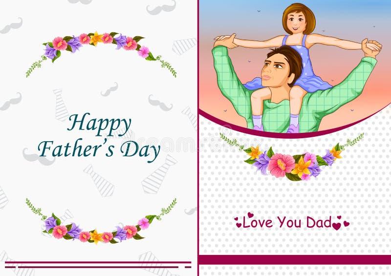 Glücklicher Vater ` s Tagesgruß lizenzfreie abbildung