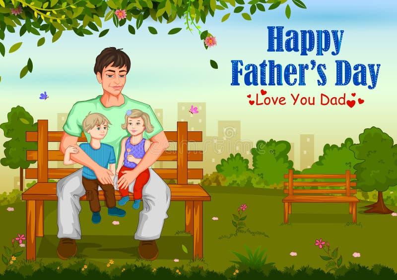 Glücklicher Vater ` s Tagesgrußhintergrund stock abbildung