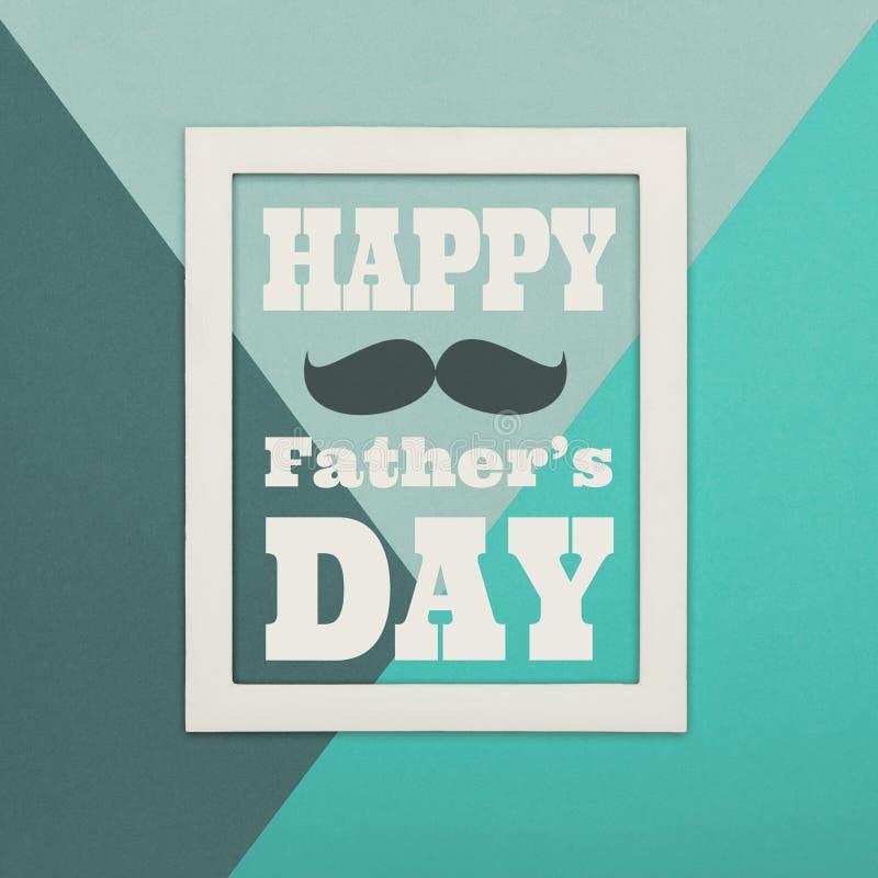 Glücklicher Vater ` s Tageshintergrund Abstrakter mehrfarbiger Papierbeschaffenheitsminimalismushintergrund vektor abbildung