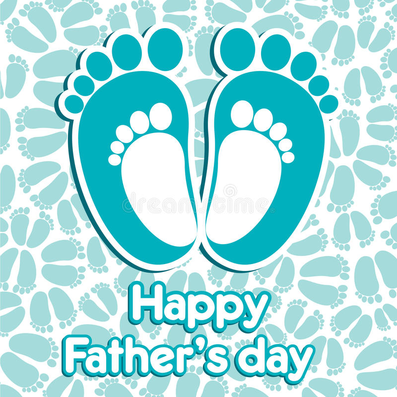 Glücklicher Vatertag stock abbildung