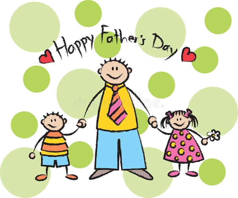 Glücklicher Vatertag - Leuchte vektor abbildung