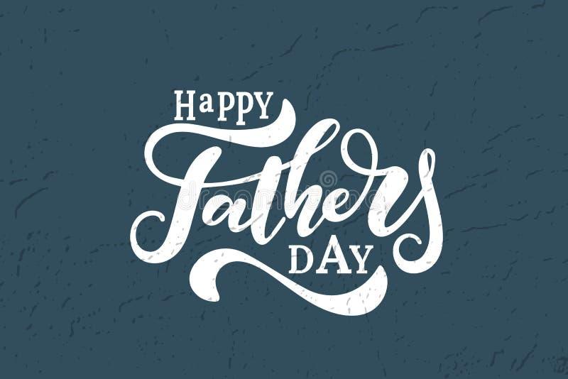 Glücklicher Vektor-Beschriftungshintergrund des Vaters s Tages lizenzfreie abbildung