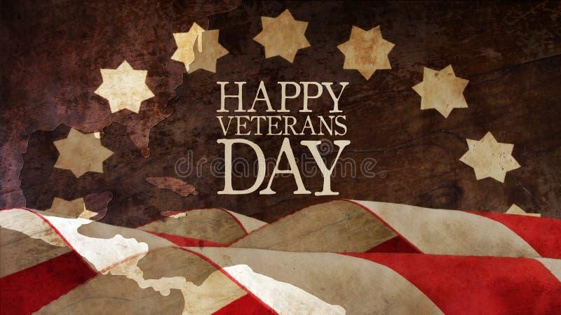 Glücklicher Veteranen-Tag Abbildung für Web lizenzfreie stockfotos