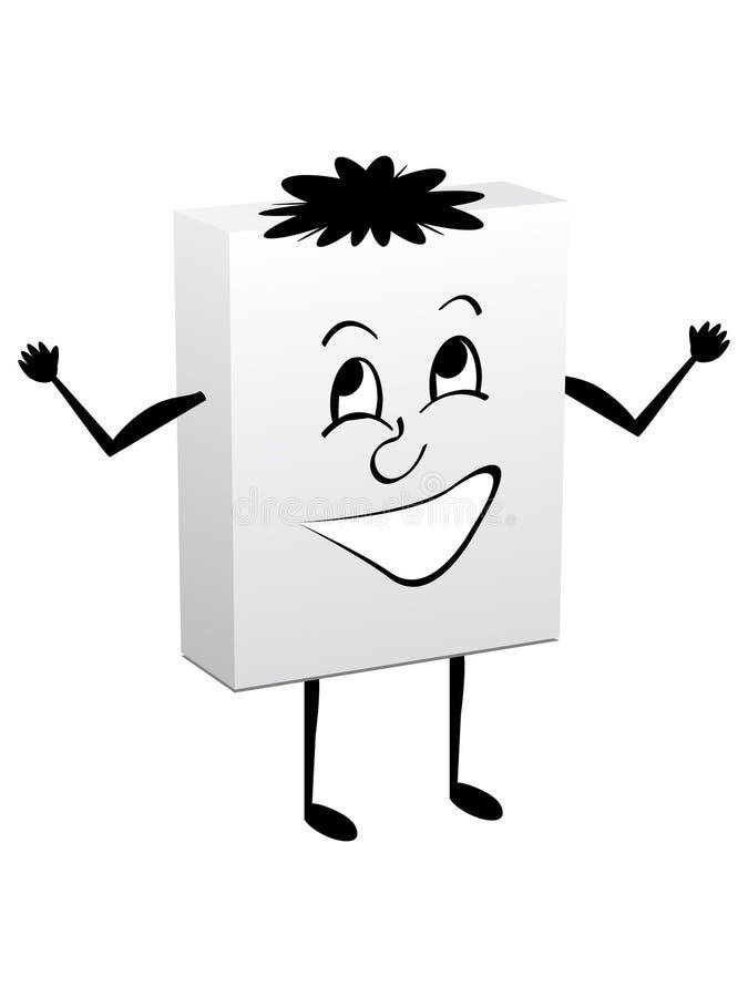 Glücklicher weißer Kasten vektor abbildung