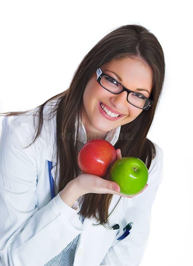 Glücklicher weiblicher Doktor lizenzfreie stockbilder