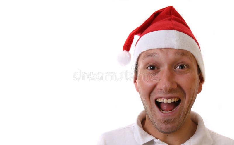 Glücklicher Weihnachtsmann lizenzfreies stockbild