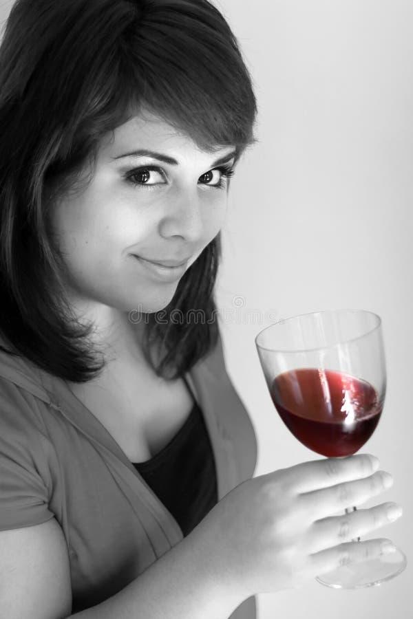 Glücklicher Wein-Schmecker stockbilder