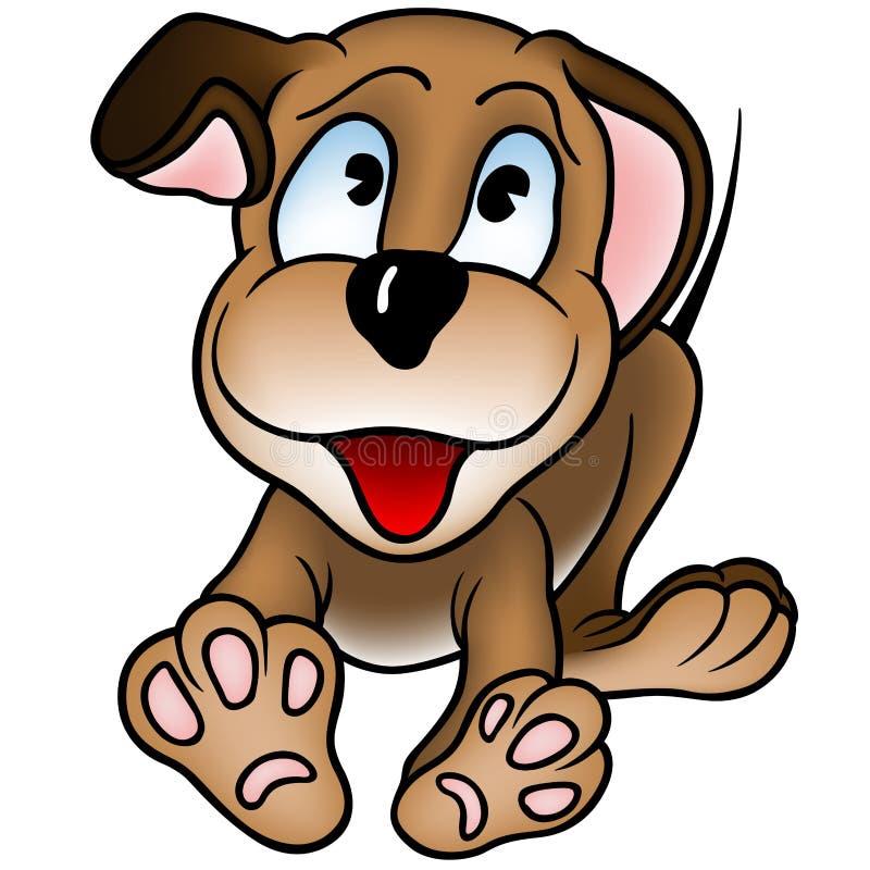 Glücklicher Welpen-Hund vektor abbildung