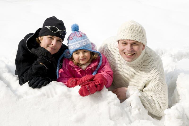 Glücklicher Winter stockfotografie